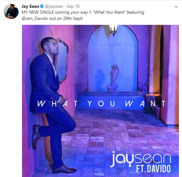 Jaysean 1 - Davido Set For Another International Collaboration