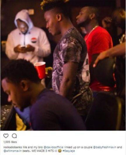 reeky 2 - 'We Made 3 Hits' Reekado Banks Confirms Collaboration With Davido