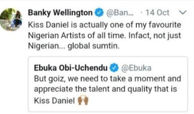 BankyW Kiss Daniel Kiss Daniel Is One Of My Favourite Nigerian Artistes Of All Time – Banky W