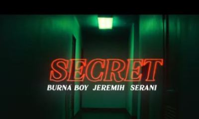 "[Video] Burna Boy – ""Secret"" ft. Jeremih, Serani"
