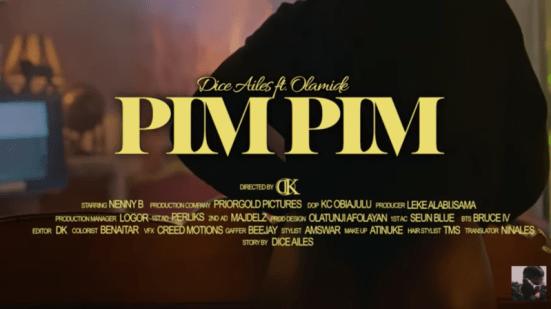 """[Video] Dice Ailes - """"Pim Pim"""" ft. Olamide"""