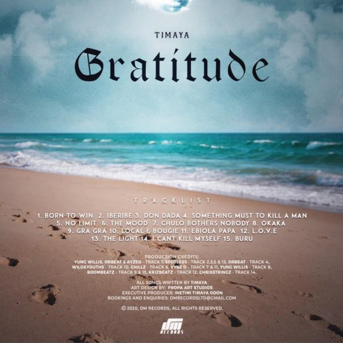 Timaya Gratitude Tracklist