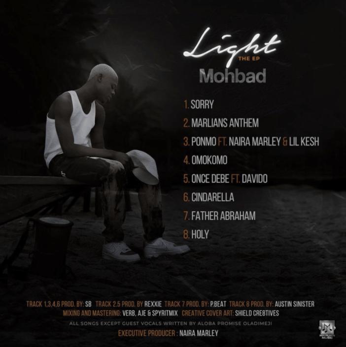 """[EP] Mohbad – """"Light"""" The EP ft. Davido, Lil Kesh, Naira Marley 7"""