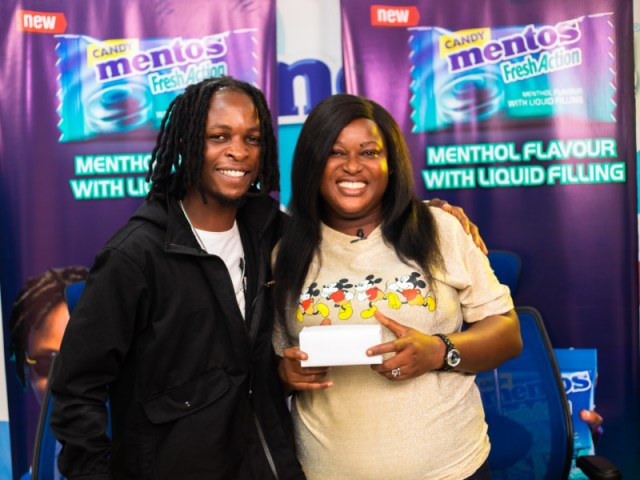 Laycon, BBN winner rewards winners with Phones for Mentos Fresh Action Candy 2