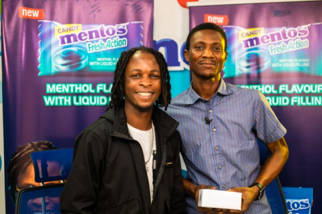 Laycon, BBN winner rewards winners with Phones for Mentos Fresh Action Candy 3