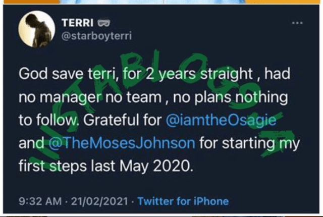Without Wizkid In The Picture, Terri Is Grateful To Osagie & Moses Johnson For Bringing Him Back In 2020 2