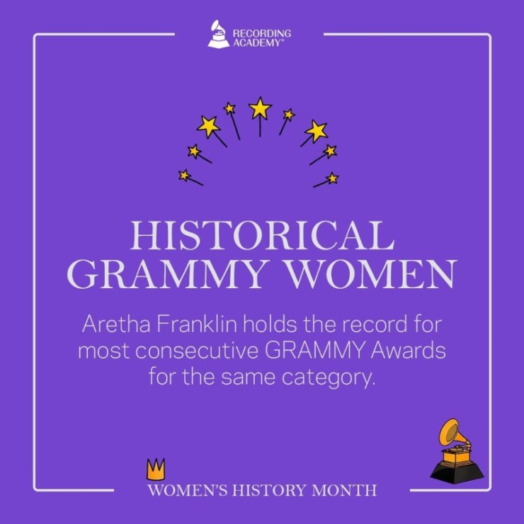 Women's History Month; Grammy And The Female Artistes That Made History 13