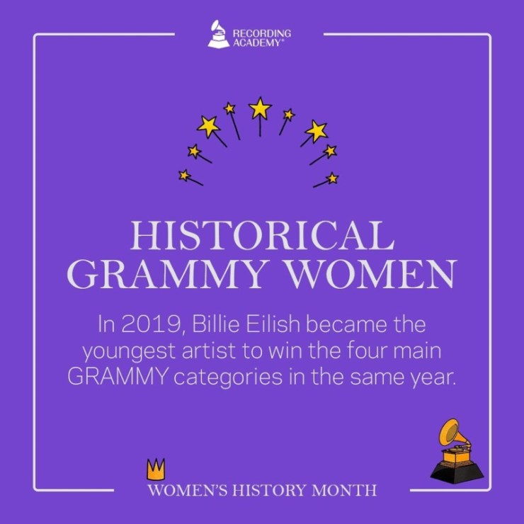 Women's History Month; Grammy And The Female Artistes That Made History 15