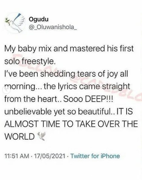 Wizkid's First Son, Boluwatife Set 'To Take Over The World' With The Release Of His First Single 2