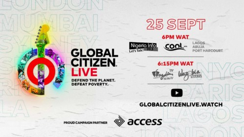 Global Citizen, in partnership with the Lagos Govt, Access Bank, set to host live event amidst campaign to fight poverty 2