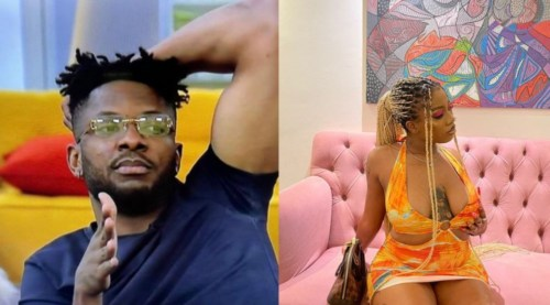 BBNaija: Angel Treats Cross To Breakfast After Giving Him Cold-Shoulder For Days 1