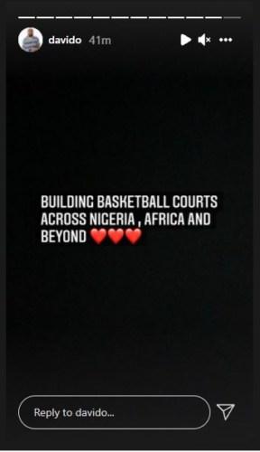 Davido Set To Build Basketball Courts Across Africa 3