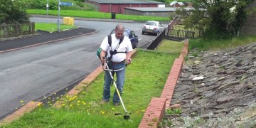 How not to use a strimmer