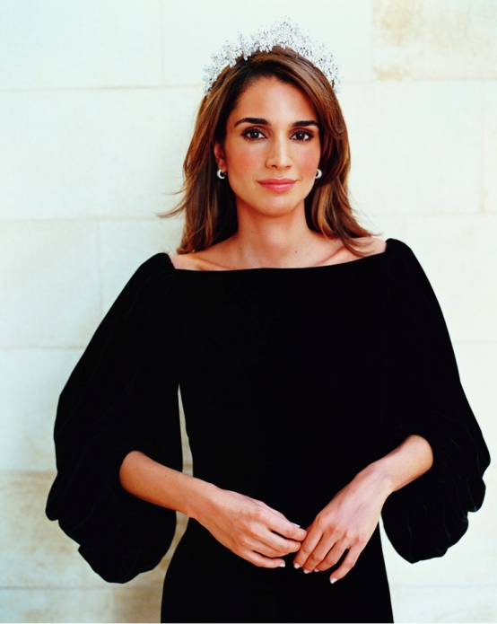 Самая красивая палестинская арабка королева Иордании Рания. Фото