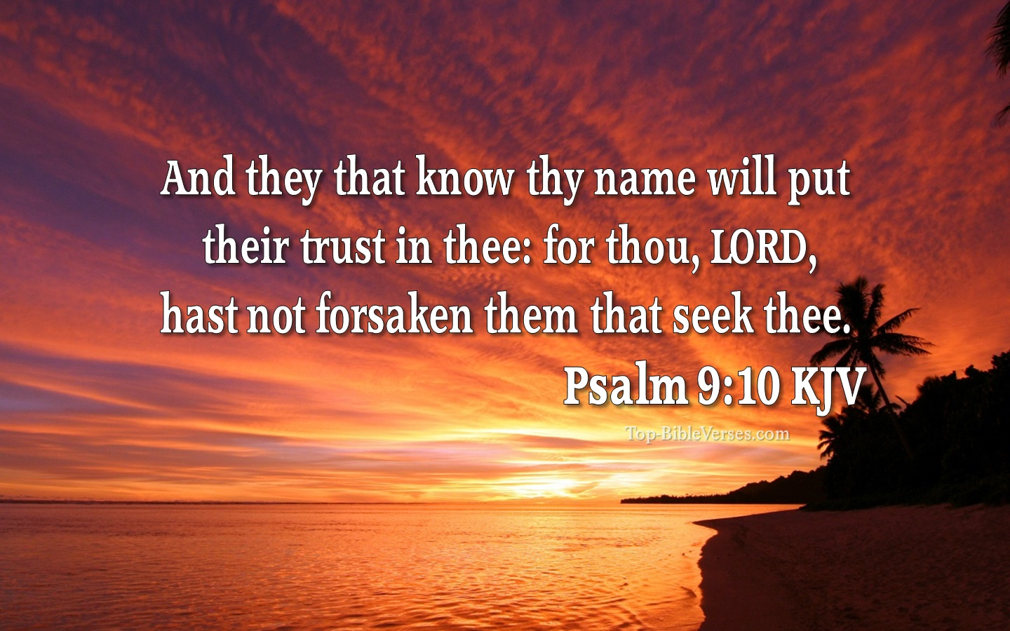 Psalm 9 KJV Inspirational Bible Verse Images | Psalm 9 Bible Quotes