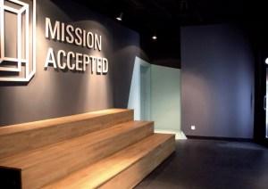 Eingangsbereich des ersten Room Escape Game im Europa-Center - Fotos: Mission Accepted