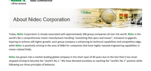 Beware Of A Fake Billing Support Job Offer For Nidec Corporation