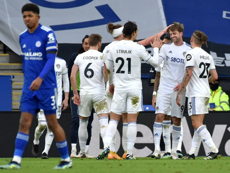 Patrick Bamford inspires Leeds to upset victory against Leicester