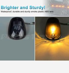 anzo light bar wiring diagram 5xsmoke cab marker 264146bk lights amber led assembly [ 1200 x 1200 Pixel ]
