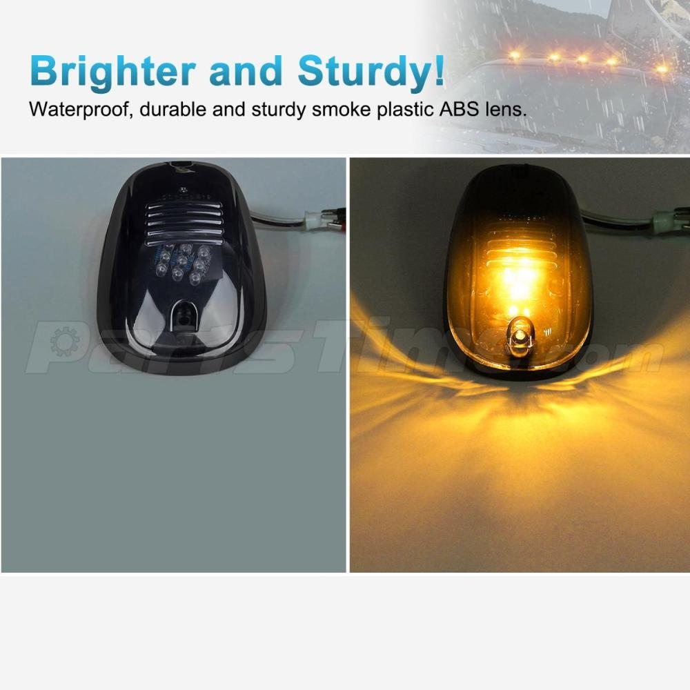 medium resolution of  anzo light bar wiring diagram 5xsmoke cab marker 264146bk lights amber led assembly