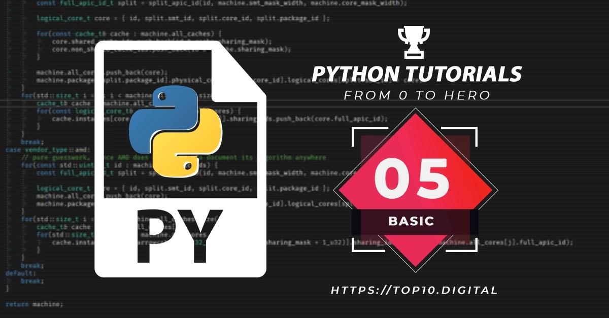 Python Complete Series – 05