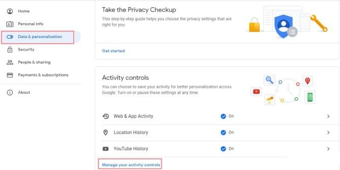 Google history check