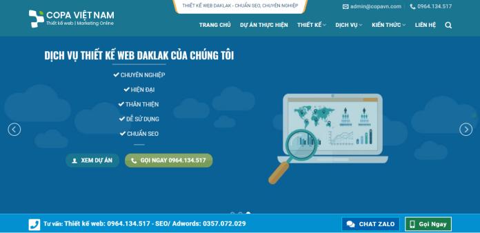 Công ty thiết kế web Copa Việt Nam