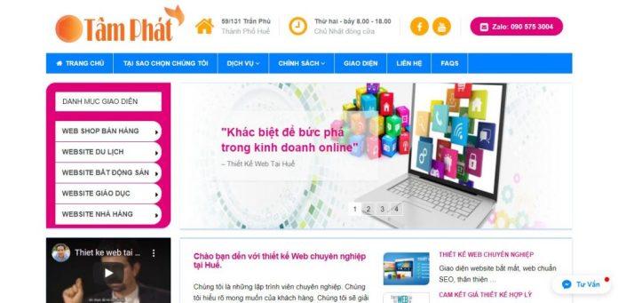 Công Ty Thiết Kế Website Tâm Phát