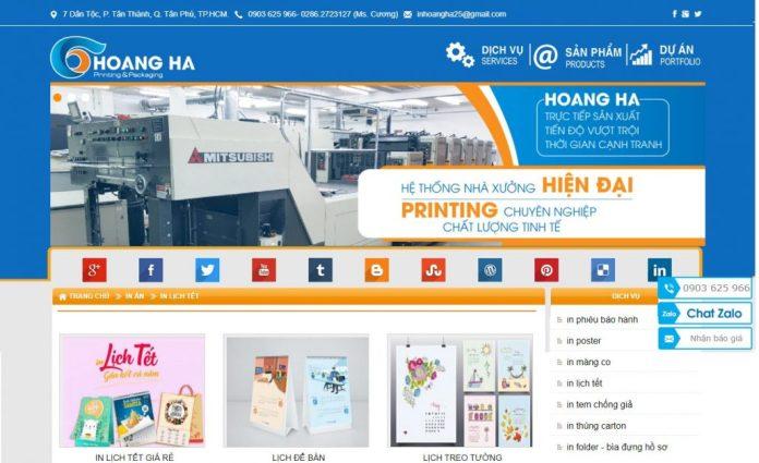 Công ty in lịch tết Bao Bì Hoàng Hà