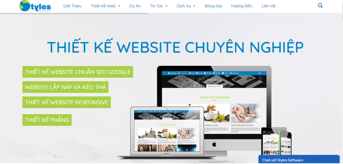Công ty thiết kế website Styles Software