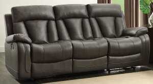 Best Leather Reclining Sofas Homelegance 8500GRY