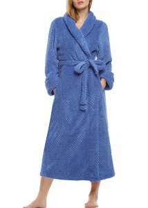 Ekouaer Women Super Plush Microfiber Fleece Bathrobe Loungewear Robe