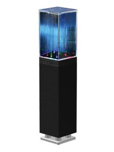 Sylvania SP118-BLACK Water Dancing Bluetooth Mini Tower Speaker