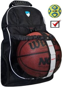 Hard Work Sports Basketball Backpack with Ball Compartment