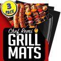 Latest BBQ Grill Mats - Set of 3 Heavy Duty, Non-Stick Grilling Mats