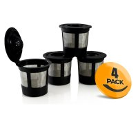 4-Pack Reusable K-Cup with Freedom Clip for Keurig 1.0 Machines