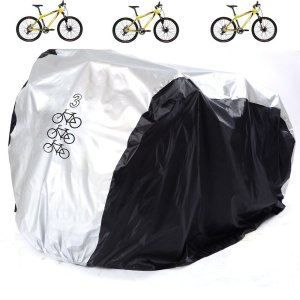 Aiskaer Waterproof Bicycle Cover Outdoor Rain Protector for 3 Bikes