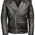 MILWAUKEE LEATHER Men Classic Side Lace Police Style Motorcycle Jacket