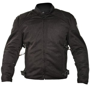 Xelement CF2157 Mens Black Mesh Motorcycle Jacket