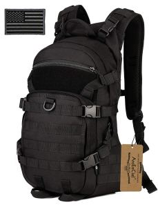 ArcEnCiel 25L Tactical Motorcycle Cycling Backpack Military Molle Pack Helmet Holder