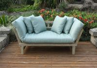 Cambridge-Casual 460109BLU West Lake Convertible Sofa Daybed