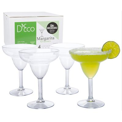 Deco Unbreakable Margarita Glasses