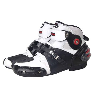 New Men Motorcycle Racing Boots White US