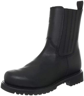 Ridge Footwear Men All Leather Side Zip Motorcycle Boot