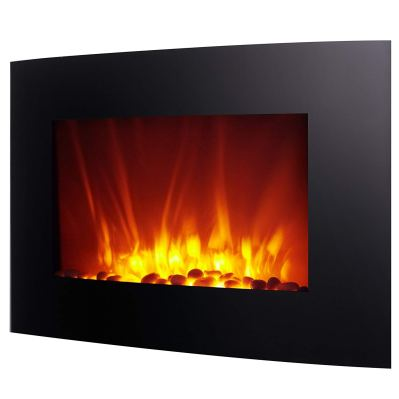 Homegear 1500W Wall Mounted 2-in-1 Electric Fireplace - Heater with Remote Control