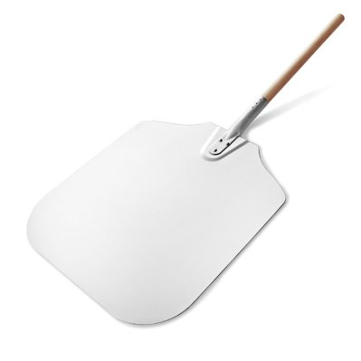 "New Star Foodservice Inc. 50196 Wooden Pizza Peel 16"" x 18"" x 36"" Aluminum"