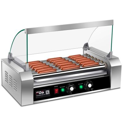 Giantex Electric Sausage Grill Hot Dog Grill Cooker 7 Rollers