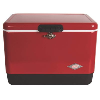Coleman Cooler Steel-Belted Cooler Keeps Ice Up to 4 Days
