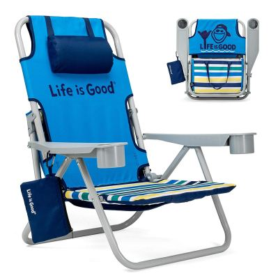Life is Good Beach Chair with Cooler