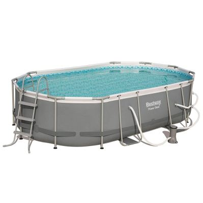 Bestway 16ft x 10ft x 42in Power Steel Above Ground Swimming Pool Set